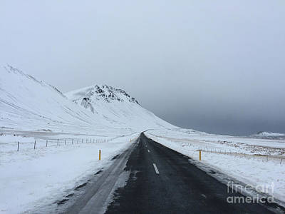 Photograph - Lonely Road On Snaefellsnes Peninsula by Benjamin Wiedmann