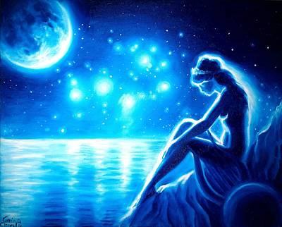 lonely Sappho in the night Original by Chirila Corina
