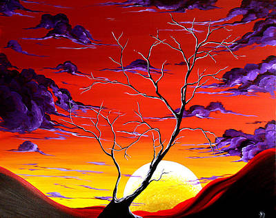 Black Hills Painting - Lonely Soul By Madart by Megan Duncanson