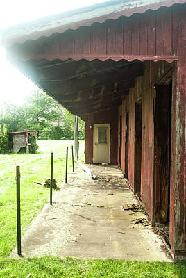 Photograph - Lonely Stables by Melissa Newcomb
