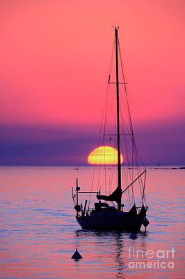 Art Print featuring the photograph Lonely Sunset by Bernardo Galmarini