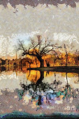 Mixed Media - Lonely Tree And Its Thoughts by Daliana Pacuraru