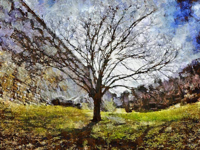 Art Print featuring the painting Lonely Tree by Derek Gedney