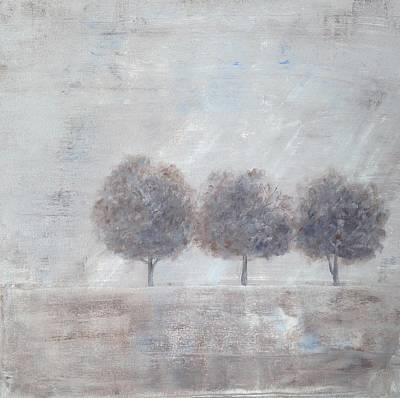 Painting - Lonely Trio by T Fry-Green