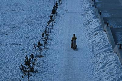Photograph - Lonely Walk/tsagaan Sar by Diane Height