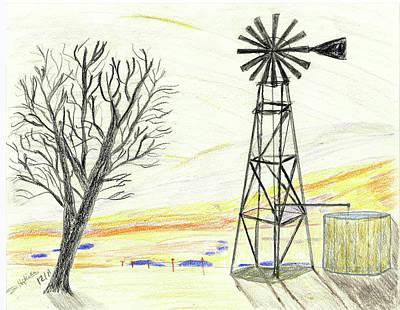 Lonely Windmill Art Print