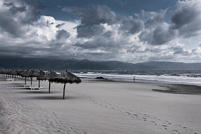 Nuevo Vallarta Photograph - Lonely Windswept Beach With Clouds Pacific Ocean At Nuevo Vallar by Reimar Gaertner