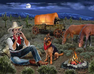 Lonesome Cowboy Art Print by Glenn Holbrook