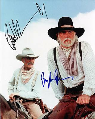 Lonesome Dove Gus And Call Signed Print Art Print by Peter Nowell