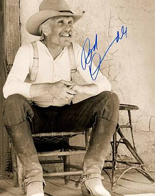 Lonesome Dove Gus Signed Print Art Print by Peter Nowell