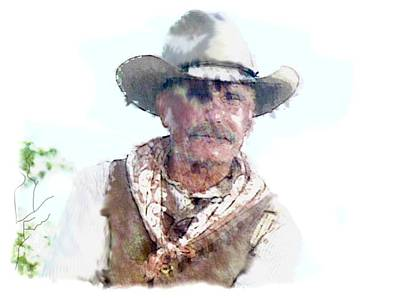 Ladnscape Painting - Lonesome Dove Gus Water Color  by Peter Nowell
