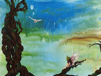 Painting - Lonesome Fairy by Deborah Ellingwood
