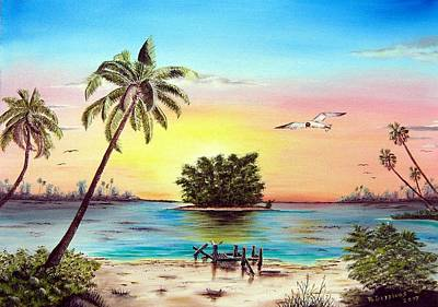Lonesome Florida Cay Art Print by Riley Geddings