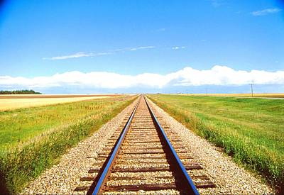 Lonesome Railroad Art Print