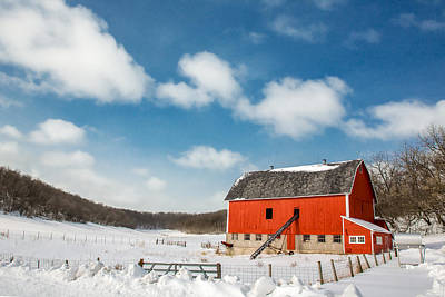 Christmas Holiday Scenery Photograph - Lonesome Valley by Todd Klassy