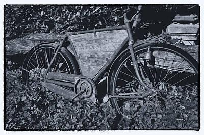 Bicycle Digital Art - Long Abandoned Bike by KJ DePace
