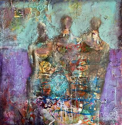 Mixed Media - Long Ago And Faraway by Gail Butters Cohen