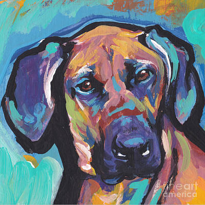 Rhodesian Ridgeback Painting - Long And Winding Rhode by Lea S