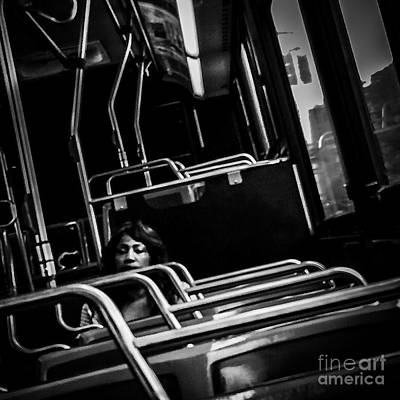 Photograph - Long And Winding Road - Lady On A Bus by Miriam Danar