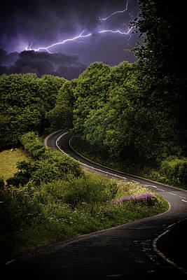 Lightning Photograph - Long And Winding Road by Martin Newman