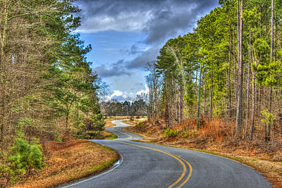 Gray Horses Photograph - Long And Winding Gray Horse Road by Reid Callaway