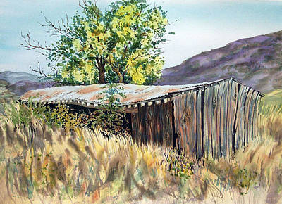 Painting - Long Barn by Lynne Haines