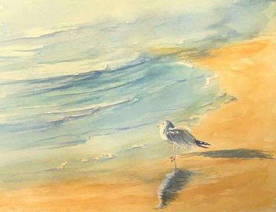 Painting - Long Beach Bird by Debbie Lewis