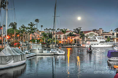 Photograph - Long Beach, Ca. Naples by David Zanzinger