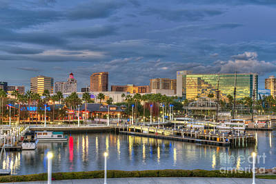 Photograph - Long Beach Cityscape by David Zanzinger
