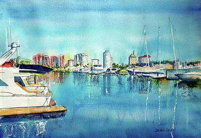 Painting - Long Beach Coast by Debbie Lewis