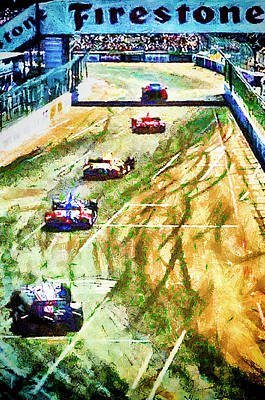 Mixed Media - Long Beach Grand Prix by Joseph Hollingsworth