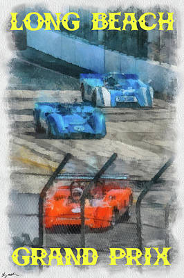 Long Beach Grand Prix Poster Art Print by Tommy Anderson