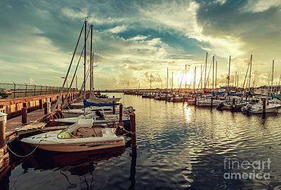 Photograph - Long Beach Harbor by Joan McCool