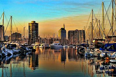 Art Print featuring the photograph Long Beach Harbor by Mariola Bitner
