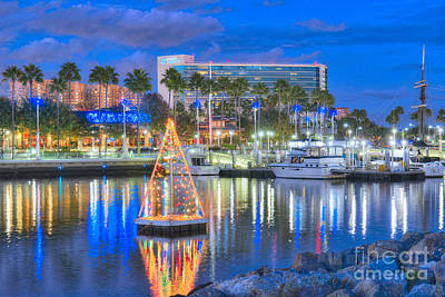 Photograph - Long Beach Hyatt Rainbow Harbor by David Zanzinger