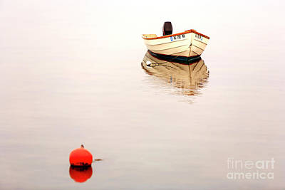 Photograph - Long Beach Island Boat Reflection by John Rizzuto