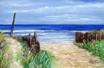 Long Sands Painting - Long Beach Island Nj by Leonardo Ruggieri