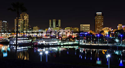 Long Beach Lights Art Print by Adam Pender