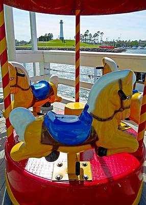 Photograph - Long Beach Micro Carousel by Robert Meyers-Lussier