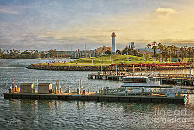Photograph - Long Beach - Rainbow Harbor Lighthouse by Gabriele Pomykaj