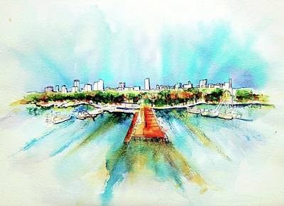 Painting - Long Beach Rising by Debbie Lewis