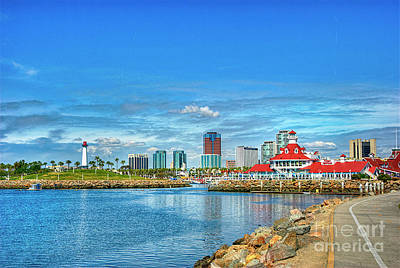 Photograph - Long Beach Shoreline Village by David Zanzinger