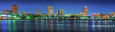 Photograph - Long Beach Skyline Cityscape Panorama by David Zanzinger