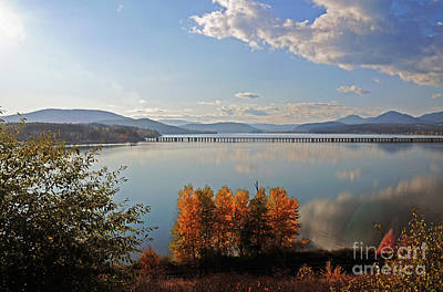 Photograph - Long Bridge Sandpoint Id by Cindy Murphy - NightVisions