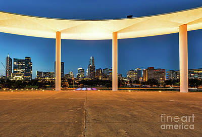 Austin Skyline Photograph - Long Center With Austin Skyline At Twilight by Tod and Cynthia Grubbs