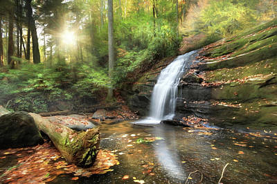 Digital Art - Long Creek Falls by Lori Deiter