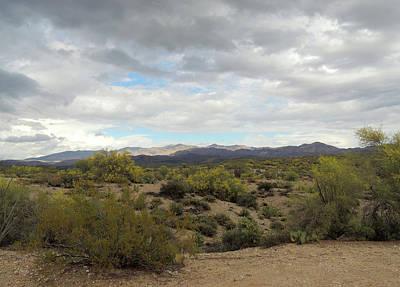 Art Print featuring the photograph Long Desert View by Gordon Beck
