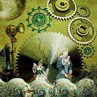 Steampunk Mixed Media - Long Distance by Ally  White
