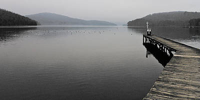 Photograph - Long Dock Into The Fog by Ron Dubin
