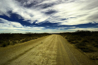 Long Dusty Road In Jal New Mexico  Art Print by Jeff Swan